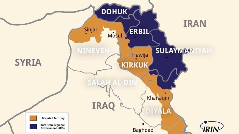 Kurdistan Region Map 2017